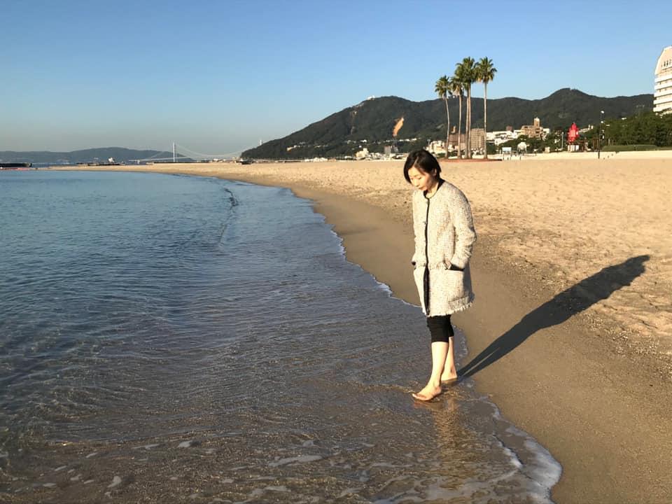須磨の浜辺