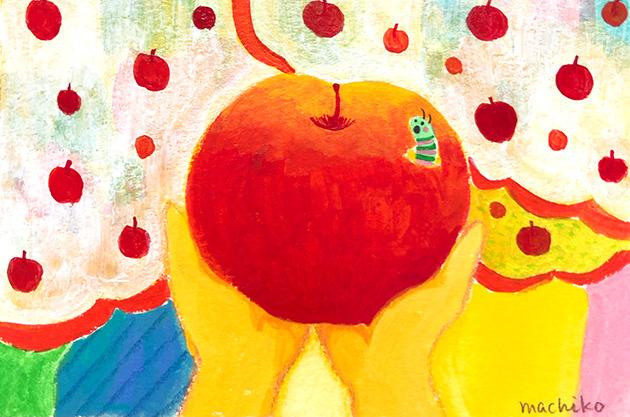 蜜がたっぷり入ったリンゴ